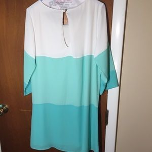 Lulu's Dresses - lulus teal and white color block dress ❤️👗